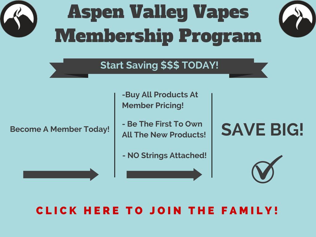 Aspen Valley Vapes Membership Program